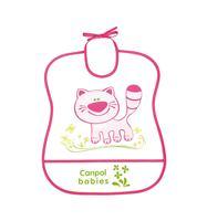 Canpol podbradník plastový mäkký - Happy animals - mačička